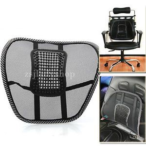 Van Car Seat Office Chair Massage Back Lumbar Support Mesh Ventilate Cushion Pad