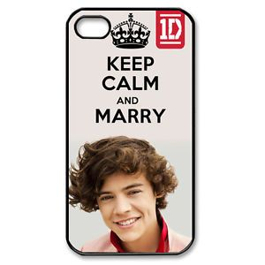Keep Calm and Marry Harry Styles One Direction 1D iPhone Case 4 4S Cover