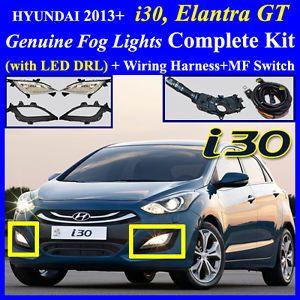 2013 Hyundai Elantra GT I30 Fog Light Complete Kit Wiring Harness LED DRL