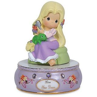 ♫ New Precious Moments Figurine Tangled Statue Princess Hair Music Box Musical