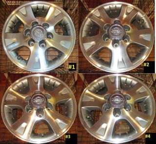 "Nissan Pathfinder Lot 16"" Rims Aluminum Alloy Good Factory Wheels Lot 62370"