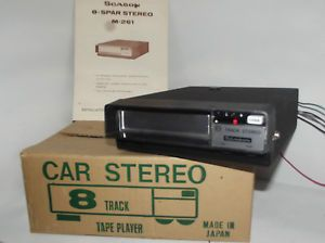 Scason M 261 8 Track Car Stereo Tape Player 6121322 8 TR Tape Pete Jacques