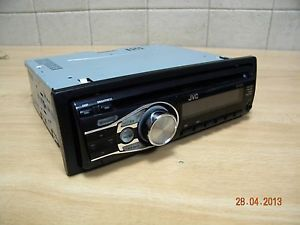 """JVC KD R322 Car Stereo Receiver CD  Player Aux Working """"as Is"""" w Adapter Trim"""