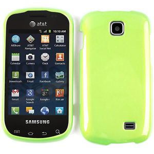 Protector Case for Samsung Galaxy Appeal i827 Hard Cover Shinny Green Accessory