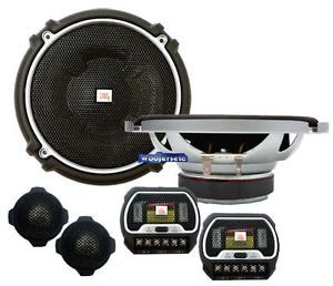"JBL GTO608C Pro 6 1 2"" Loud Car Component Speakers Tweeters Mids Crossovers New"