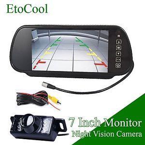 """7""""TFT LCD Car Rear View Monitor Mirror Backup Night Vision Waterproof Camera"""