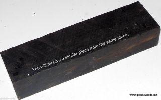 Gabon Ebony Wood for Knife Scales Pistol Grips Game Call Reel Seat Guitar Bridge
