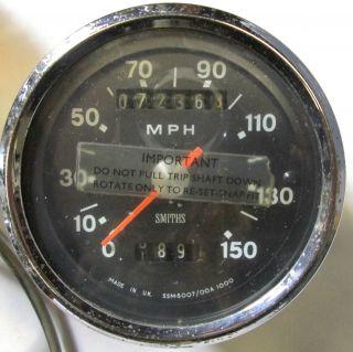 British Triumph Tiger Bonneville BSA Norton Trident Smiths Gauge 0 150 MPH