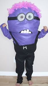 Evil Minion Halloween Costume Despicable Me Kids Child Size Homemade New