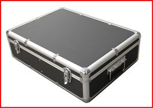 1000 CD DVD Black Aluminum Media Storage Case Mess Free Holder Box with Sleeves
