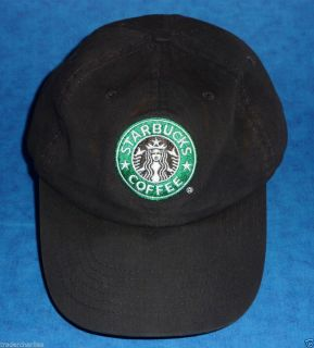 Starbucks Coffee Hat Baseball Cap Black Relaxed Fit Adj Back