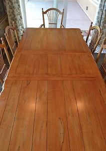 Ethan Allen Country French Dining Table w 2 Leaves 10 Wheatback Chairs Buffet