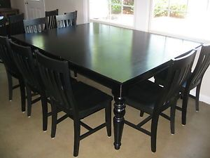 Beautiful Pottery Barn Black Dining Table Chairs Long X Wide - Pottery barn black dining table