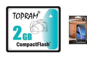 2F TOPRAM 2GB Compact Flash CF Memory Card Camera CompactFlash 2G 2GIG 2 G GB