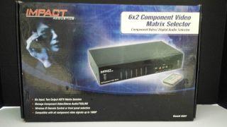 Impact Acoustics 6x2 Component Video Matrix Selector