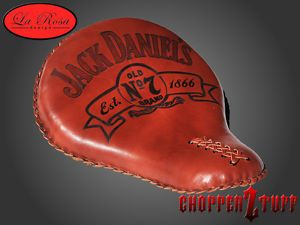 """LaRosa Harley Chopper Bobber 16"""" Solo Seat Shedron Jack Daniels Old No 7"""
