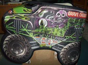 Monster Jam Grave Digger Truck Child Halloween Costume Slip on with Straps