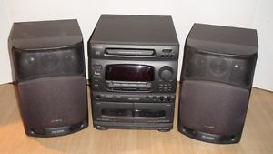 Aiwa NSX 430 Digital Audio System Home Stereo CD Cassette Radio with Speakers
