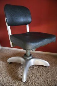 Vintage 1940's WWll Retro Industrial Machine Age GF Goodform Tanker Desk Chair
