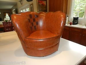 Crown Mark Baseball Glove Chair Ottoman Msrp 269