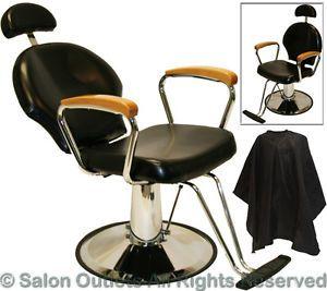 All Purpose Natural Oak Hydraulic Reclining Barber Chair Shampoo Salon Equipmen