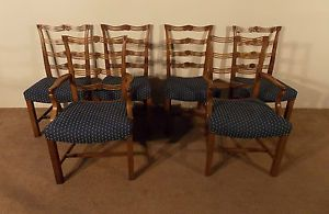 Baker Furniture Company Set of 6 Mahogany Chippendale Dining Chairs