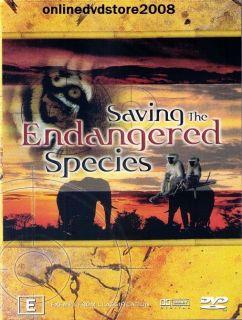 Saving The Endangered Species Animals Documentary DVD New SEALED