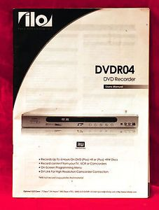 ILO DVDR04 DVD Recorder Users Manual Quick Installation Guide