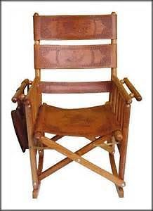 Costa Rica Leather Folding Rocking Chair
