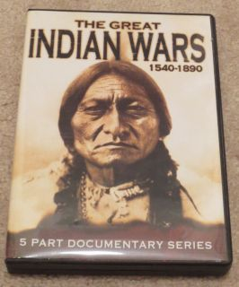 The Great Indian Wars 1540 1890 5 Part Documentary Series DVD