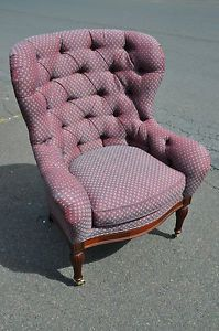 Southwood Mahogany Tufted Wing Chair