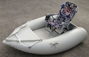 Sale 6 5' Inflatable Boat Kaboat Can Use Motor and Beach Chair for Fishing