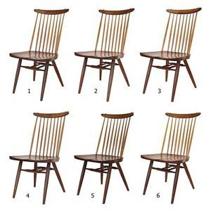 Set 6 Original George Nakashima New Chairs Walnut Dining Mid Century Modern