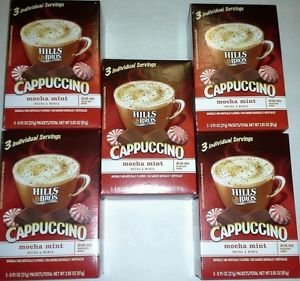 5 Boxes Hills Bros Cappuccino Mocha Mint Coffee Drink Mix Chocolate Mint