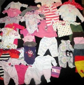 Huge Baby Girl Clothes Lot Size Newborn 0 3 Months Infant Fall Winter Outfit