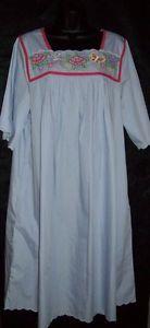 Go Softly Patio House Dress Muu Caftan Duster Poplin Wrinkle Resist Lav XL