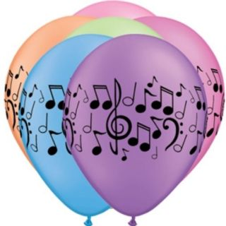 Neon Music Note Balloons 10 School Musical Recital Themed Party Supplies
