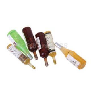 6pcs Wine Whisky Beer Bottles Dolls House Miniature Pub Bar Accessory 1 12 Scale