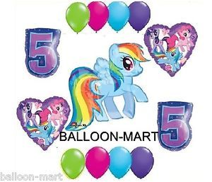 My Little Pony Rainbow Dash 5th Birthday Party Supplies Balloons Set Fifth Five