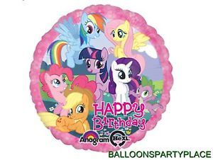 My Little Pony Rainbow Dash Happy Birthday Party Balloon Decoration Bouquet New