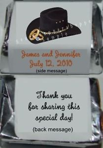 Personalized Western Wedding Cowboy Candy Nugget Labels Favors Party Supplies