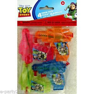 4 Disney Toy Story Water Squirt Guns Birthday Party Supplies Favors