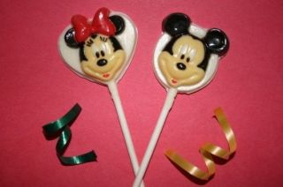 Set of 20 Mickey Minnie Mouse Chocolate Lollipop Favors Birthday Party