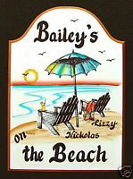 Beach Chairs Welcome Sign Personalized Lake Beach House
