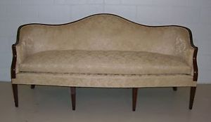 Biggs Antique Furniture Company Hepplewhite 8 Leg Sofa