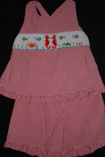 Vive La Fete Smocked Short Set 3T