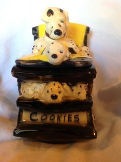 Vintage McCoy Cookie Jar Dalmation Dogs Puppies Rocking Chair Made in USA