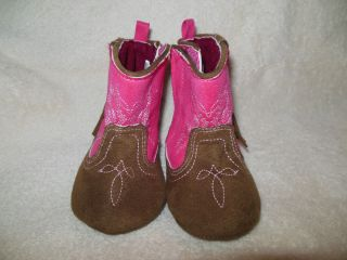 Baby Girl Pink Cowgirl Boots Size 9 12 Months