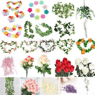 Mixed Artificial Flower Vine Ivy Garland Party Wedding Home Decoration Decor