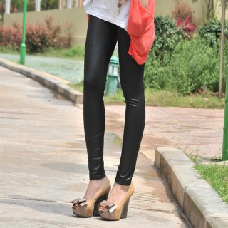 New Sexy Ladies Women Girl's Faux Leather Leggings Pants Black Trouser Tights
